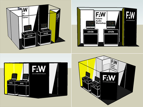 3d rendering of the booth