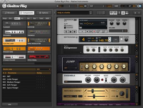 Native Instruments Guitar Rig 4 GUI