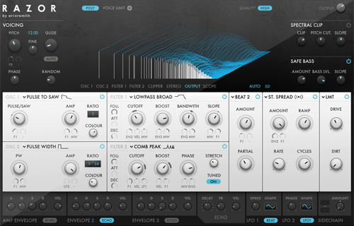 Native Instruments RAZOR user interface