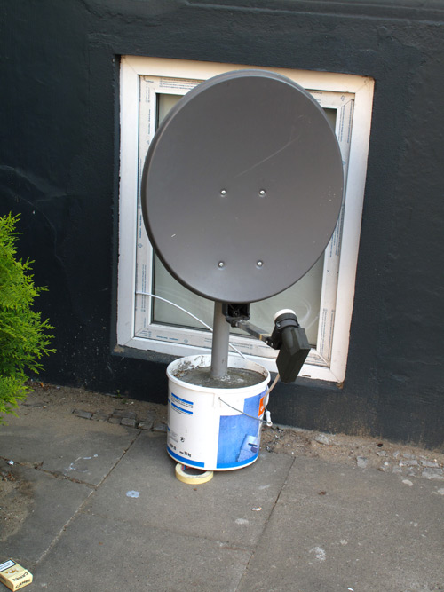 DIY satellite dish